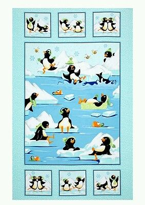 Susybee Gwyn The Penguin Quilt Panel * Free Post *  So Sweet * 🐧