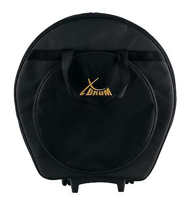 Stage Cymbal Trolley Bag Knapsack Fittings Carry Case Wheels Telescopic Handle
