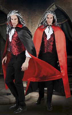 VAMPIRE CAPE Red/Black | MENS Size | Halloween Costume Fancy Dress Accessory