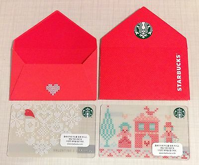 Starbuck Korea 2015 Valentine Day Card Set with Matching Sleeve