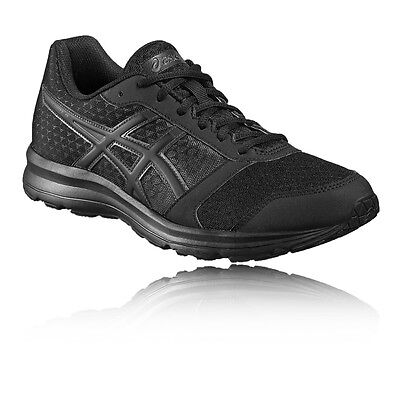Asics Patriot 8 Hommes Noir Amorti Running Sport Chaussures Baskets Sneakers