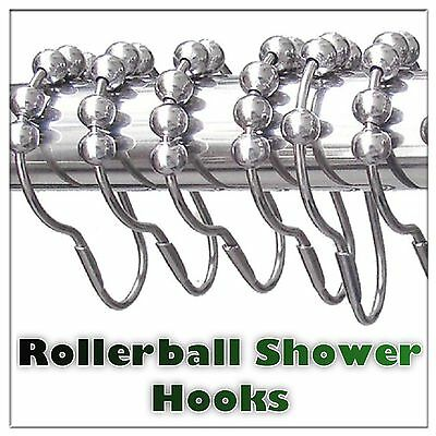 Replacement Chrome Rollerball Shower Curtain Ring Shower Track Glider Ring Hook