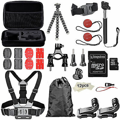 Kit Esencial de Accesorios para Cámara GoPro Hero5 Hero 4 Black Session Maletin