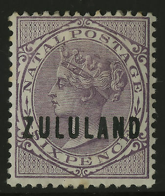 Zululand   1888-94    Scott #13   Mint Hinged Removed