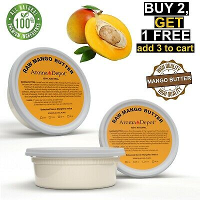 100% Raw Mango Butter Natural Pure 8 oz. Organic Unrefined Skin Care Moisturizer