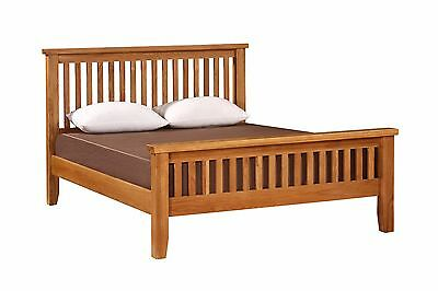 """Canterbury Solid Oak 4'6"""" Double Bed Frame"""