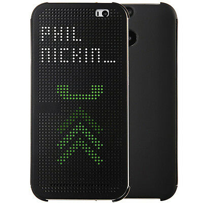 Luxury Book Design Flip Shell Dot View Skin Case For HTC Desire & HTC One