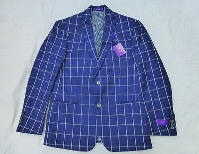 Nwt Mens Tallia Jacket Coat Blazer $225 Shxa1Cyw1000 Navy Plaid