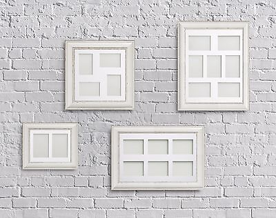 Multi Aperture Collage Picture Photo Frames Antique White With Choice Of Mounts