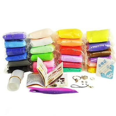 24pcs Colors Polymer Clay DIY Modelling Soft Blocks Tool Set Kids