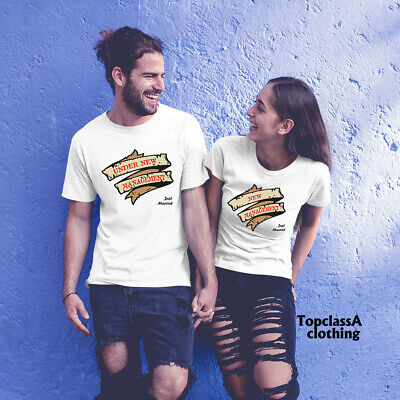 Couple Matching T shirt Under New Management Just Married Funny Wedding Slogan