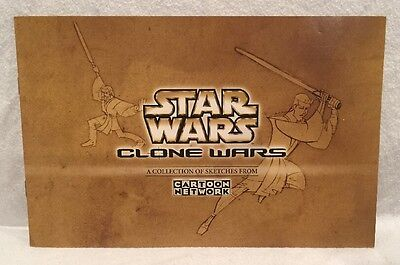 SDCC 2003 Hasbro Exclusive: Star Wars Clone Wars - Cartoon Network Sketchbook