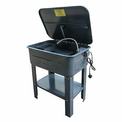 20 Gallon Part Washer With Pump Tank Cleaner Cleaning Bench Degreasing Degreaser