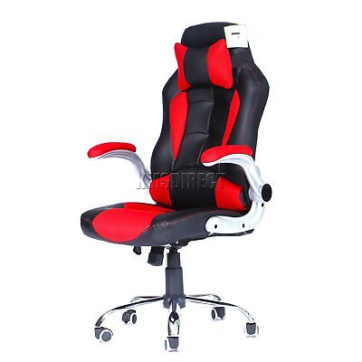 FoxHunter Computer Executive Office Chair PU Leather Swivel High Back OC09 Red