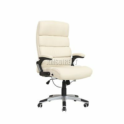 FoxHunter Computer Executive Office Chair PU Leather Swivel High Back OC04 Beige