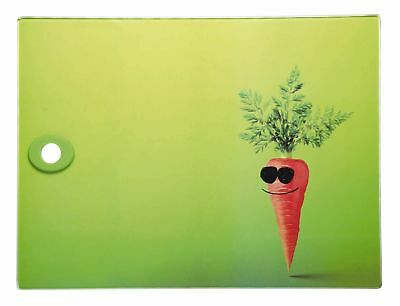 Toughened Glass Rectangular Worktop Protector - Funky Carrot