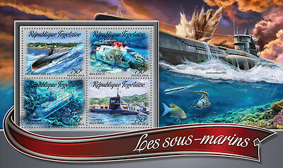 Togo 2016 MNH Submarines 4v M/S USS Seawolf HMS Astute Ships Boats Stamps