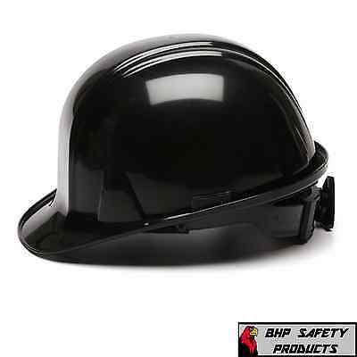 Pyramex Cap Style Black Safety Hard Hat Hp14111 4-Point Ratchet Construction
