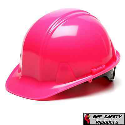 Pyramex Pink Cap Style Hard Hat 4 Point Ratchet Hp14170 Construction Safety
