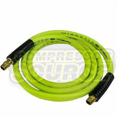 """New Flexzilla 1/2"""" x 8' FT Air Hose Whip With 3/8' MNPT Swivel HFZ1208YW3S"""