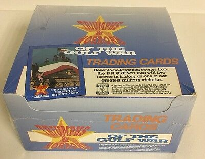 Retro Trading Cards Triumphs & Horrors of the Gulf War 1991 Sealed Case Display