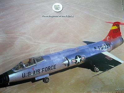 'Flown Fragment' of Chuck Yeagers Rocket /Jet F104 featured in 'The Right Stuff'