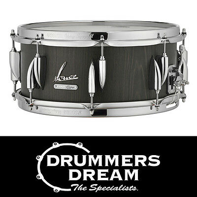 """Brand New Sonor Vintage series snare drum 14"""" x 6.5 Vintage Onyx Finish"""