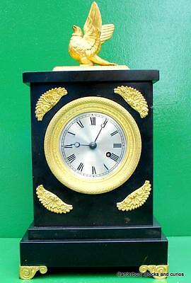JOHN  BARWISE 1820c REGENCY ANTIQUE FUSEE MARBLE BRACKET MANTLE BOUDOIR CLOCK