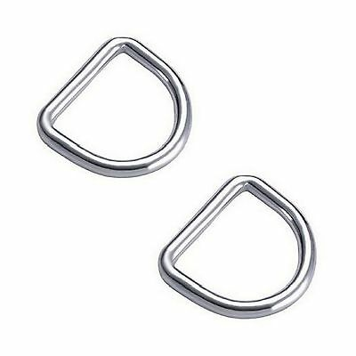 5mm x 25mm STAINLESS STEEL 316 D RING MARINE DECK SHADE SAIL BOAT - 2 FOR $3.50