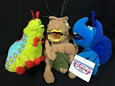 A Bug's Life BEAN BAG MOVIE PLUSH DOLLS Toys DISNEY Insects PT Flea Dim Heimlich