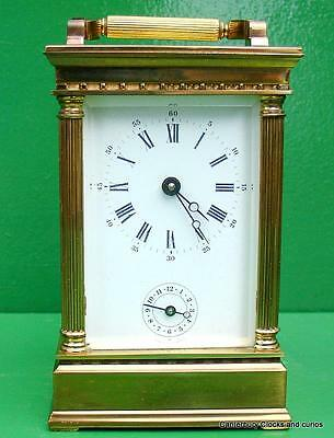 L'epee Vintage French Venitienne 8 Day Timepiece Alarm Carriage Clock Serviced