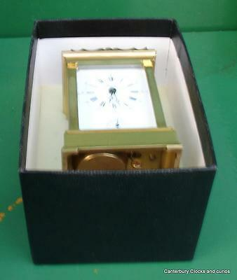 L'epee Vintage French Anglias 8 Day Timepiece Alarm Carriage Clock Serviced