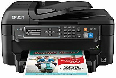 Epson WF-2750 All-in-One Wireless Color Printer with Scanner, Copier & Fax New