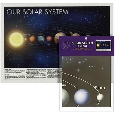 FREE POSTAGE ** SOLAR SYSTEM WALL MAP ** 1 metre X 70cm