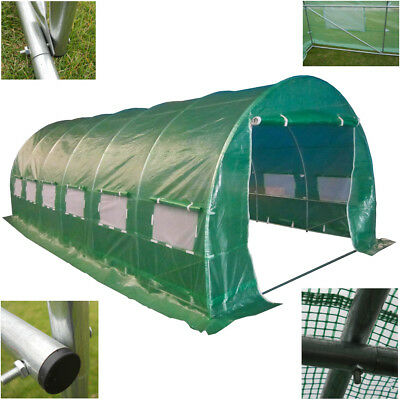 Polytunnel Galvanised Frame 6m x 3m Greenhouse Pollytunnel Poly Tunnel 6 Section
