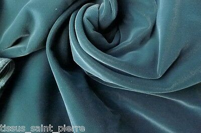 0685 COUPON TISSU HAUTE COUTURE VELOURS MIRACLE  LISSE COTON POIDS ROBE 3.00  m