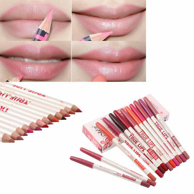 12 Colors Professional Makeup Long lasting Waterproof Lip Liner Pencils BY
