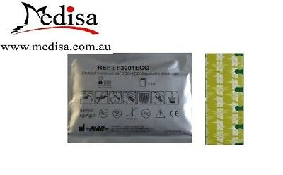 Fiab Italy Disposable ECG TAB RESTING Electrodes Solid GEL PACK 100/500/1000pcs