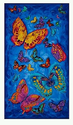 Monterey Butterfly Quilt Panel * In Stock * Free Post *