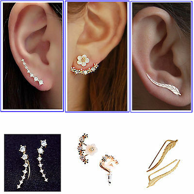Women Elegant Crystal Rhinestone Ear Stud Daisy Flower Earrings Fashion Jewelry