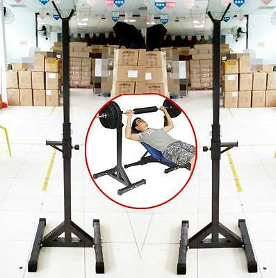 New Heavy Duty Gym Squat Barbell Power Rack Stand Adjustable Press Weight Bench