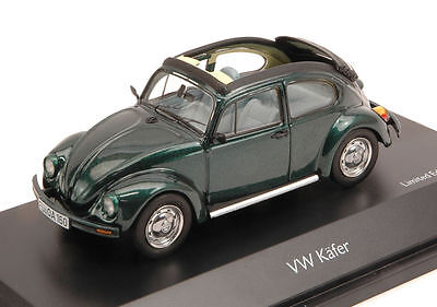 Volkswagen VW Kafer Open Air Green 1:43 Model 3878 SCHUCO