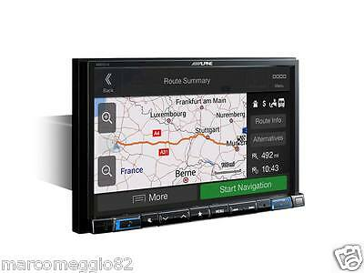 "Alpine X801DC-U 8"" Touch Screen Navigation with pre-installed Caravan, Camper an"