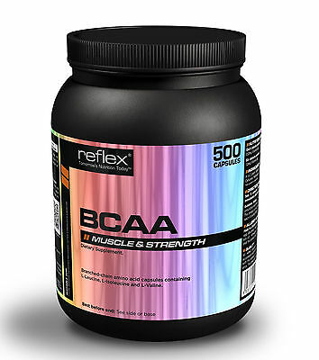 Reflex Nutrition BCAA 500 Branched Chain Amino Acid Capsules Halal,