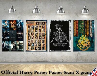 MAXI Harry Potter Movie Wall Poster Hogwarts Deathly Hallow Quidditch Gift UK