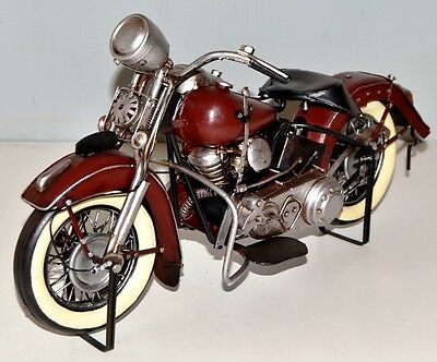 HD Motorcycle Metal Sheet Model Tin Vintage Bike approx. 34 cm 37717