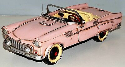 Thunderbird Vintage Tin Car Metal Model approx. 33 cm 37736