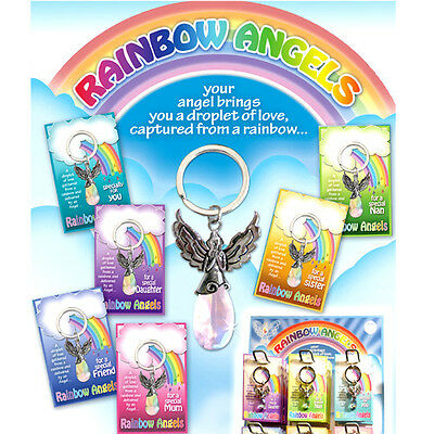 Angel Rainbow Crystal Keyring Gift  Mum Nan Sister Friend Daughter Specialy 4U