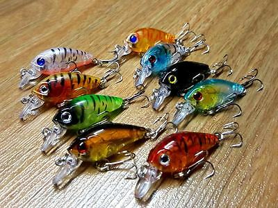 Lures 4.5 cm Crankbaits, Bream, Flathead, Redfin, Trout, Perch, Bass, Set of 9
