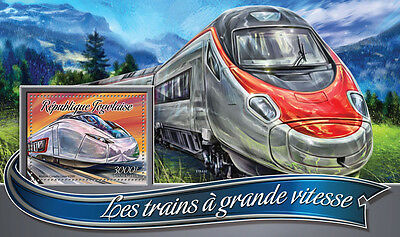 Togo 2016 MNH High-Speed Trains 1v S/S Alstom Coradia Railways Stamps
